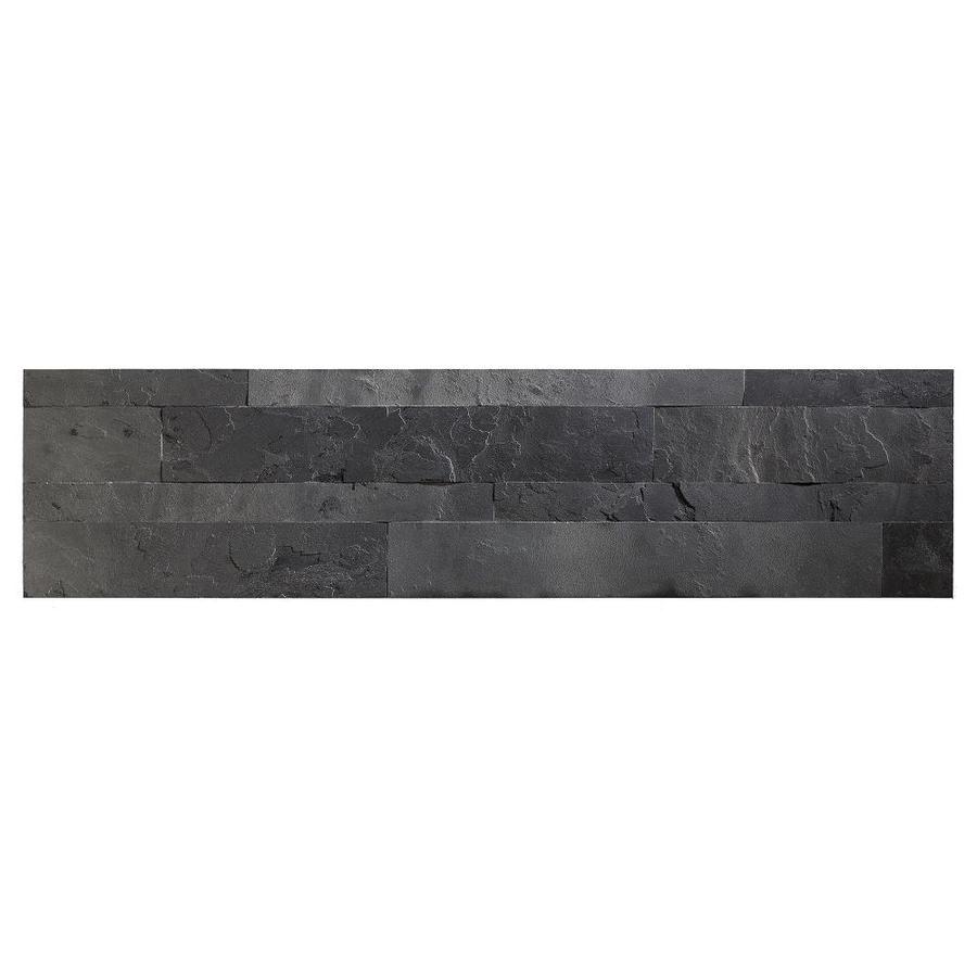 Aspect Stone 6-in x 24-in Charcoal Slate Stone Backsplash