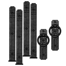 Cre8tive Hardware 6 Pack 14 In Decorative Black Magnetic Garage Door Hinge And Handle