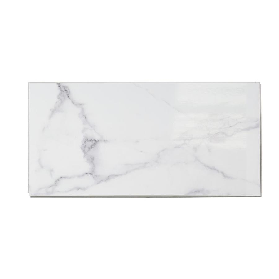Dumawall 10 Pack Carrara Marble 10 In X 20 In Composite