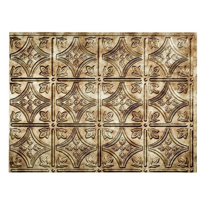 Fasade Traditional 1 24 25 In X 18 25 In Bermuda Bronze Backsplash Panels In The Backsplash Panels Department At Lowes Com