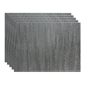 18 x 24 Panel Fasade Easy Installation Waves Brushed Aluminum Backsplash Panel for Kitchen and Bathrooms