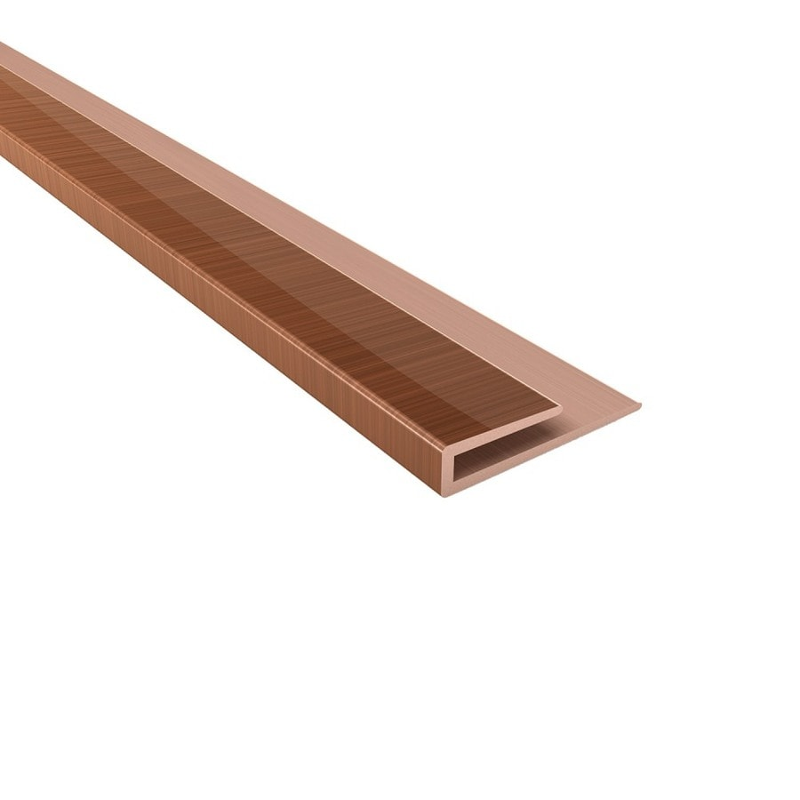 Acp 4 Ft Polished Copper Pvc Smooth J Channel Ceiling Grid Trim