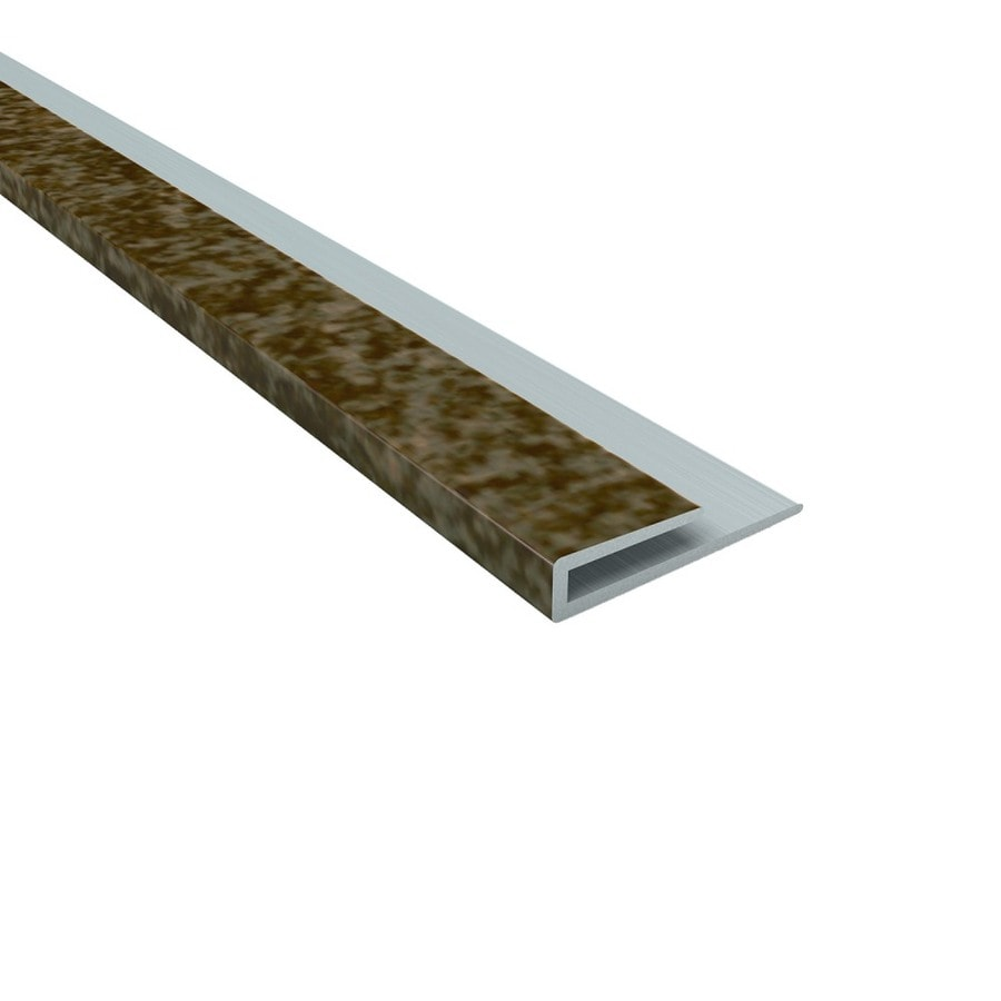 ACP Smoked Pewter PVC Smooth J-Channel Ceiling Grid Trim