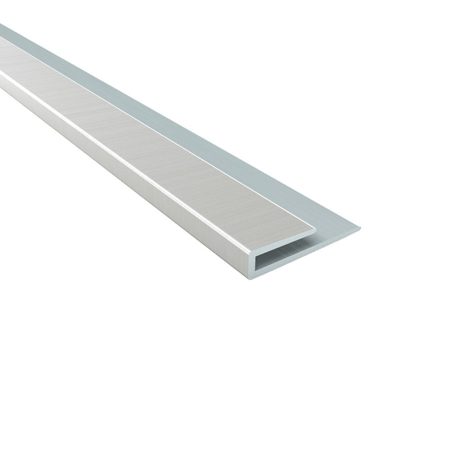ACP 4-ft Brushed Nickel PVC Smooth J-channel Ceiling Grid Trim