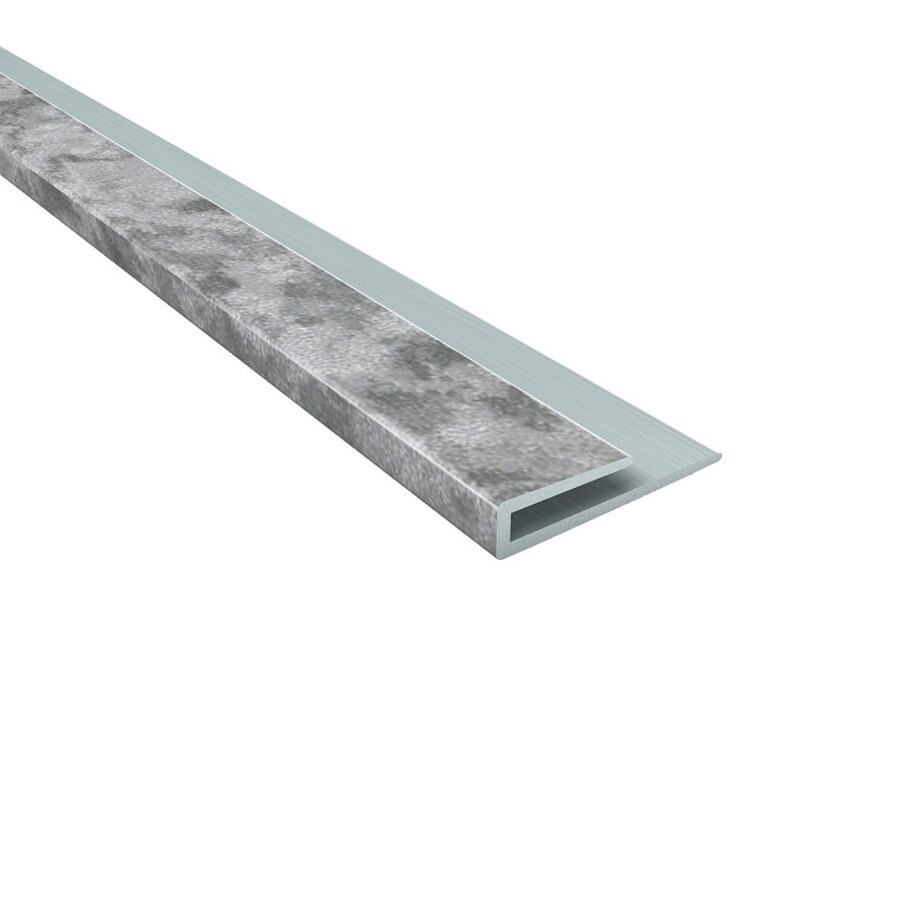 ACP 4-ft Galvanized Steel PVC Smooth J-channel Ceiling Grid Trim