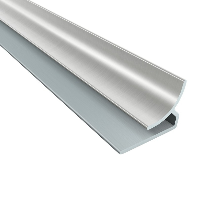 ACP 4-ft Brushed Nickel PVC Smooth Inside Corner Ceiling Grid Trim