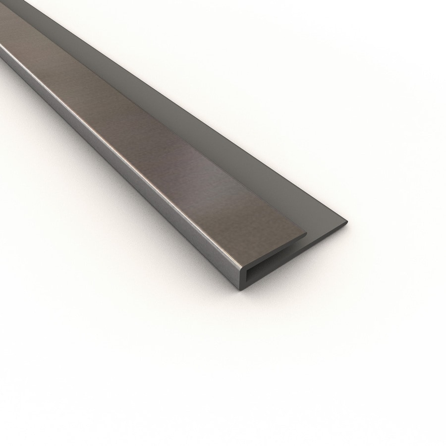 ACP Brushed Aluminum PVC Smooth J-Channel Ceiling Grid Trim