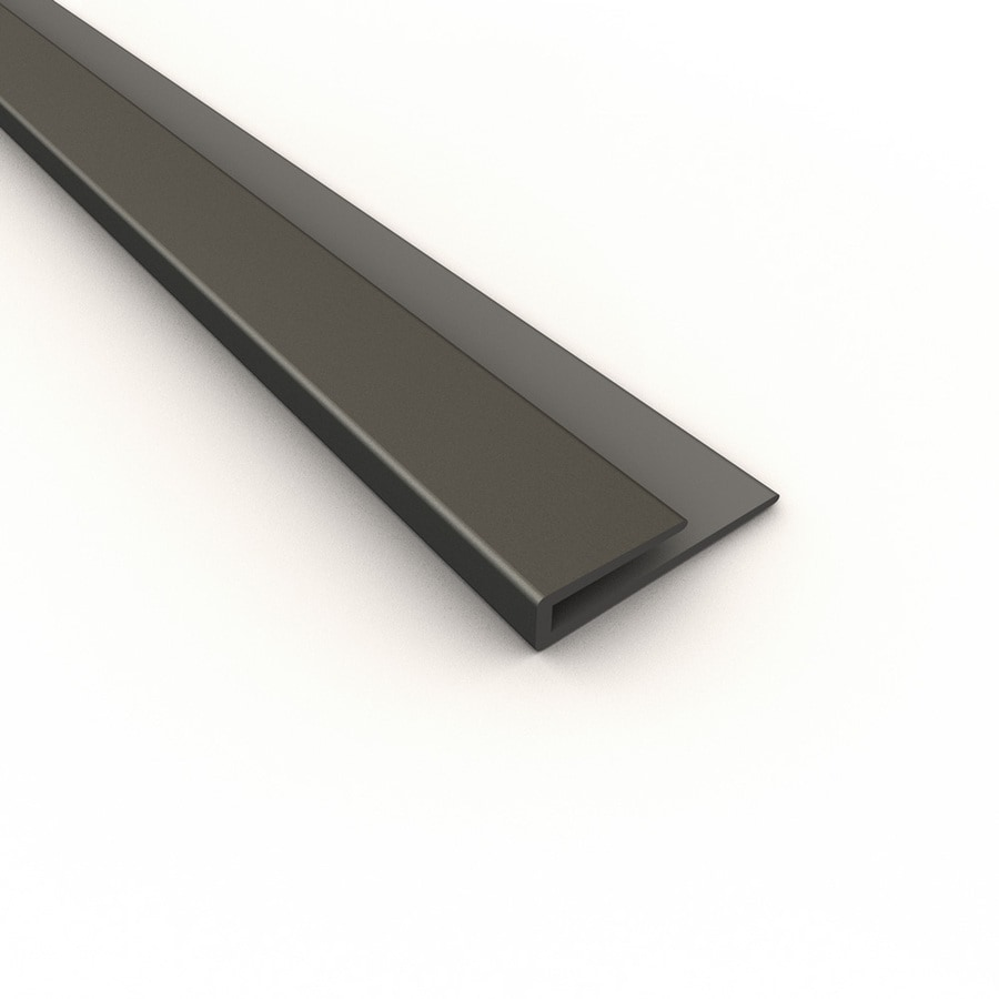 ACP Argent Silver PVC Smooth J-Channel Ceiling Grid Trim