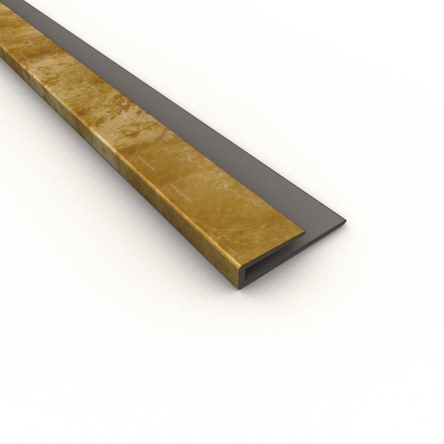 Fasade Bermuda Bronze PVC Smooth J-Channel Ceiling Grid Trim