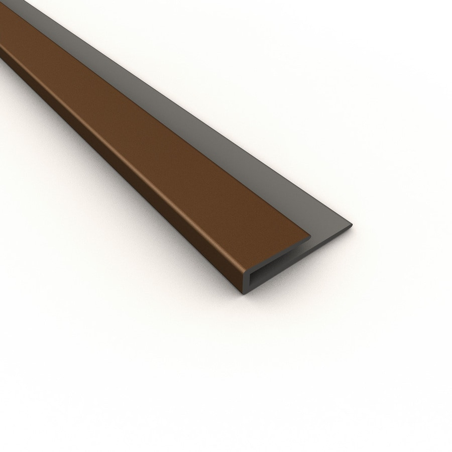 ACP Argent Bronze PVC Smooth J-Channel Ceiling Grid Trim