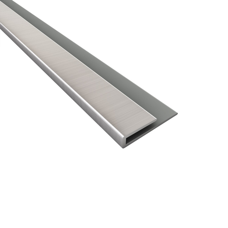 Shop Acp 4 Ft Brushed Nickel Pvc Smooth J Channel Ceiling