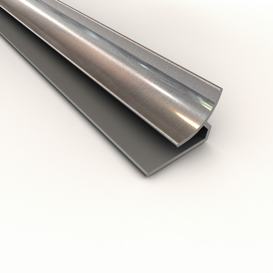 Shop Acp 4 Ft Brushed Aluminum Pvc Smooth Inside Corner