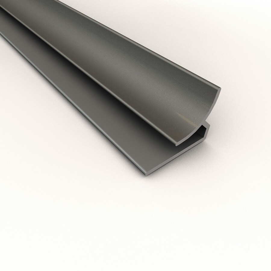 ACP Argent Silver PVC Smooth Inside Corner Ceiling Grid Trim