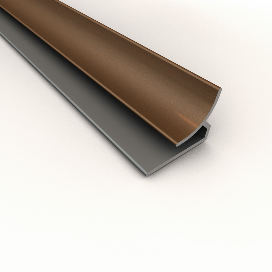 ACP 4-ft Argent Copper PVC Smooth Inside Corner Ceiling Grid Trim