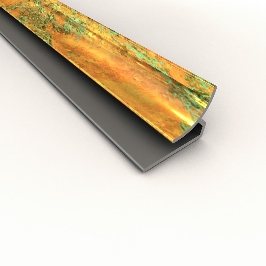 ACP 4-ft Copper Fantasy PVC Smooth Inside Corner Ceiling Grid Trim