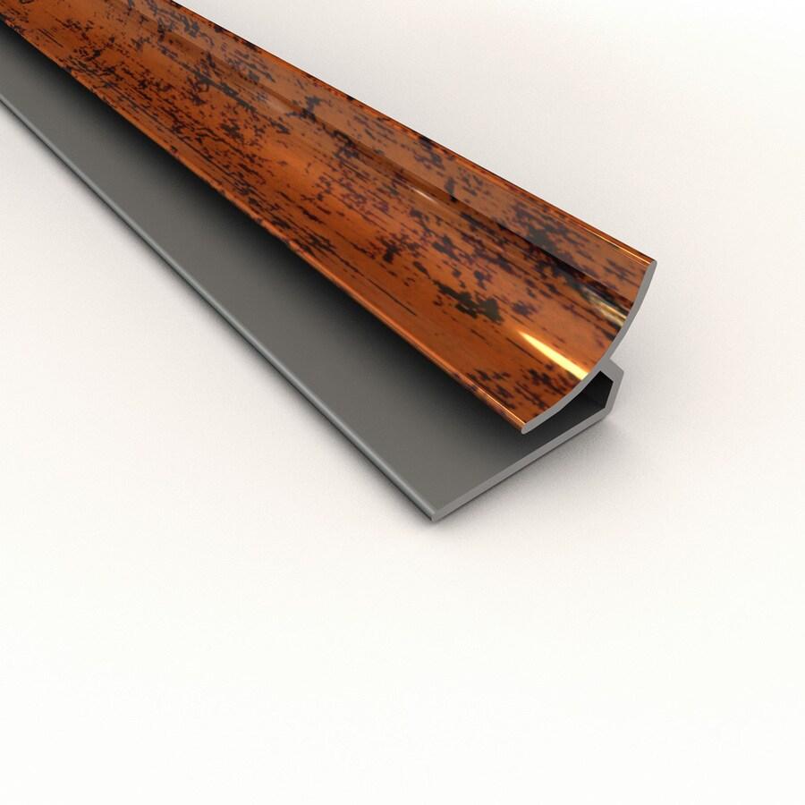 ACP 4-ft Moonstone Copper PVC Smooth Inside Corner Ceiling Grid Trim