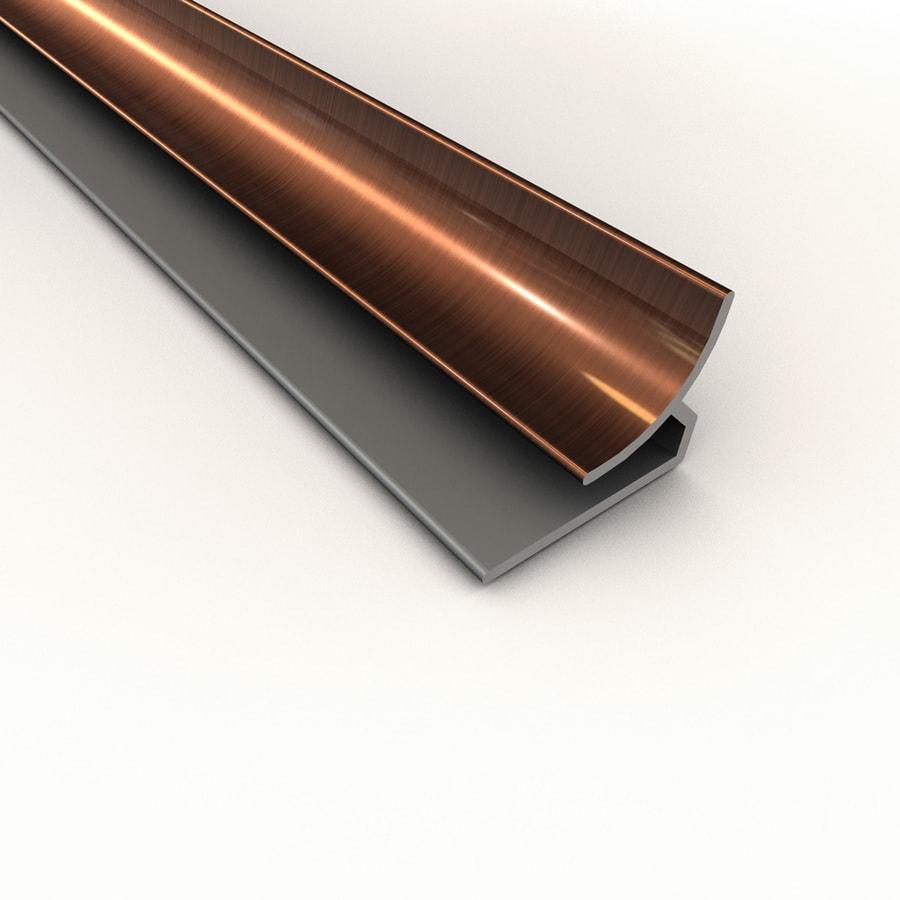 ACP Polished Copper PVC Smooth Inside Corner Ceiling Grid Trim