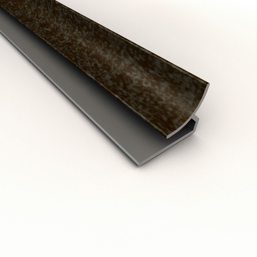 ACP Smoked Pewter PVC Smooth Inside Corner Ceiling Grid Trim