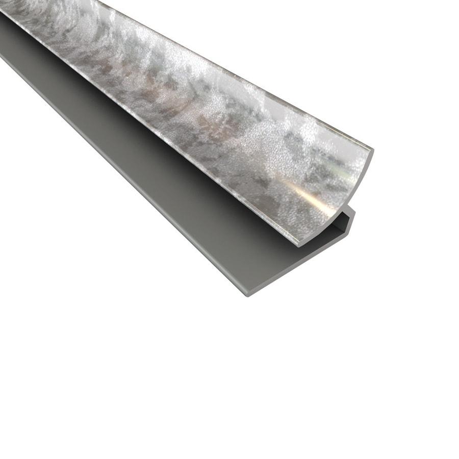 ACP 4-ft Galvanized Steel PVC Smooth Inside Corner Ceiling Grid Trim