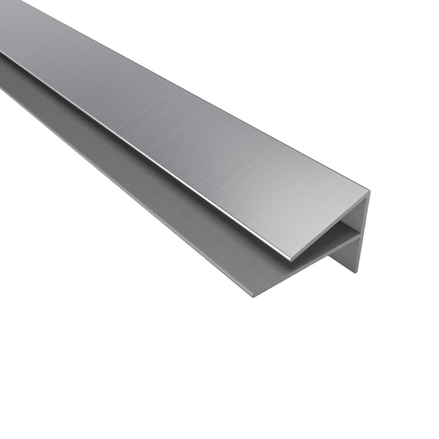 ACP Brushed Aluminum PVC Smooth Outside Corner Ceiling Grid Trim