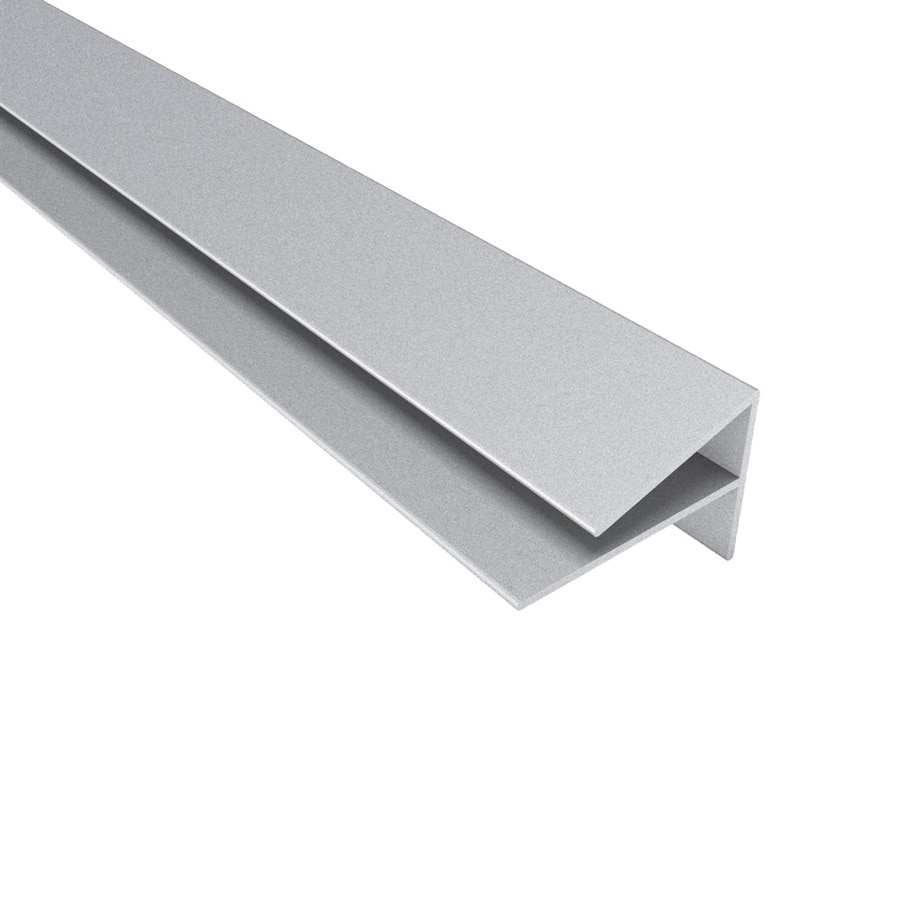 ACP 4-ft Argent Silver PVC Smooth Outside Corner Ceiling Grid Trim