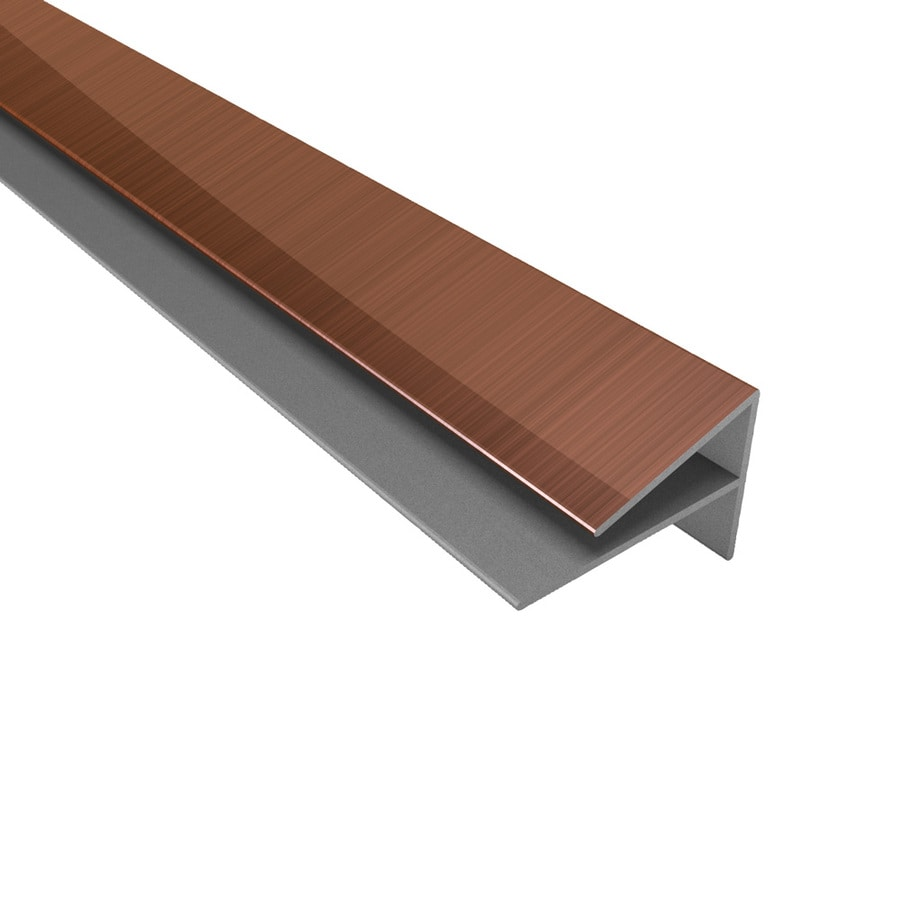 ACP Polished Copper PVC Smooth Outside Corner Ceiling Grid Trim