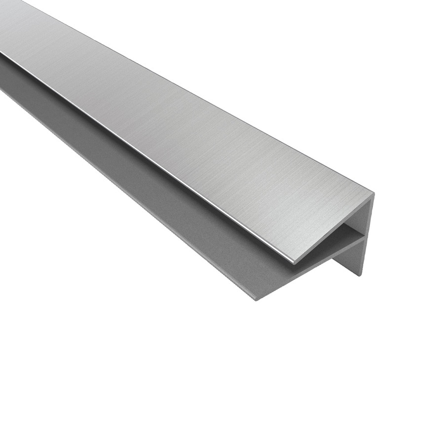 ACP Brushed Nickel PVC Smooth Outside Corner Ceiling Grid Trim