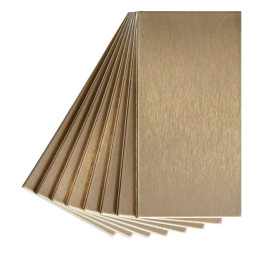Shop Aspect Metal 3 In X 6 In Champagne Metal Multipurpose