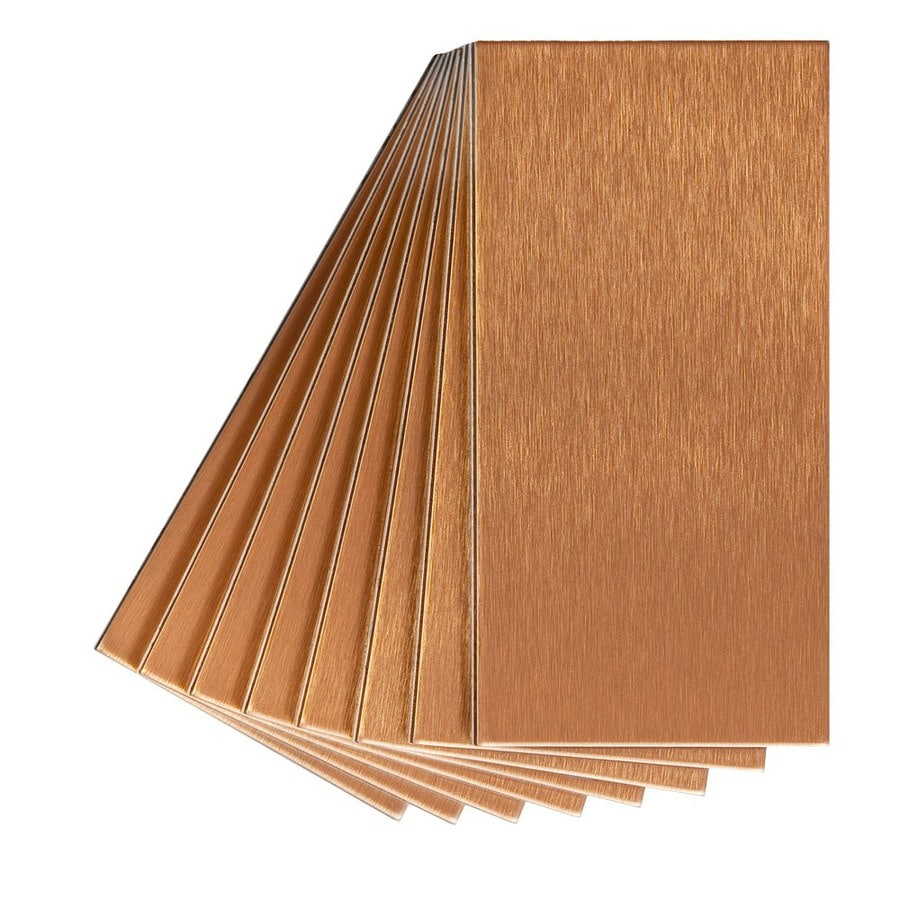 Aspect Metal 3 In X 6 In Copper Metal Multipurpose Backsplash