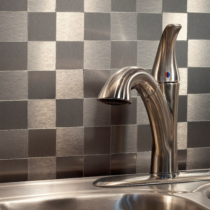 Aspect Metal 4 In X 12 In Stainless Backsplash Panels In The Backsplash Panels Department At Lowes Com