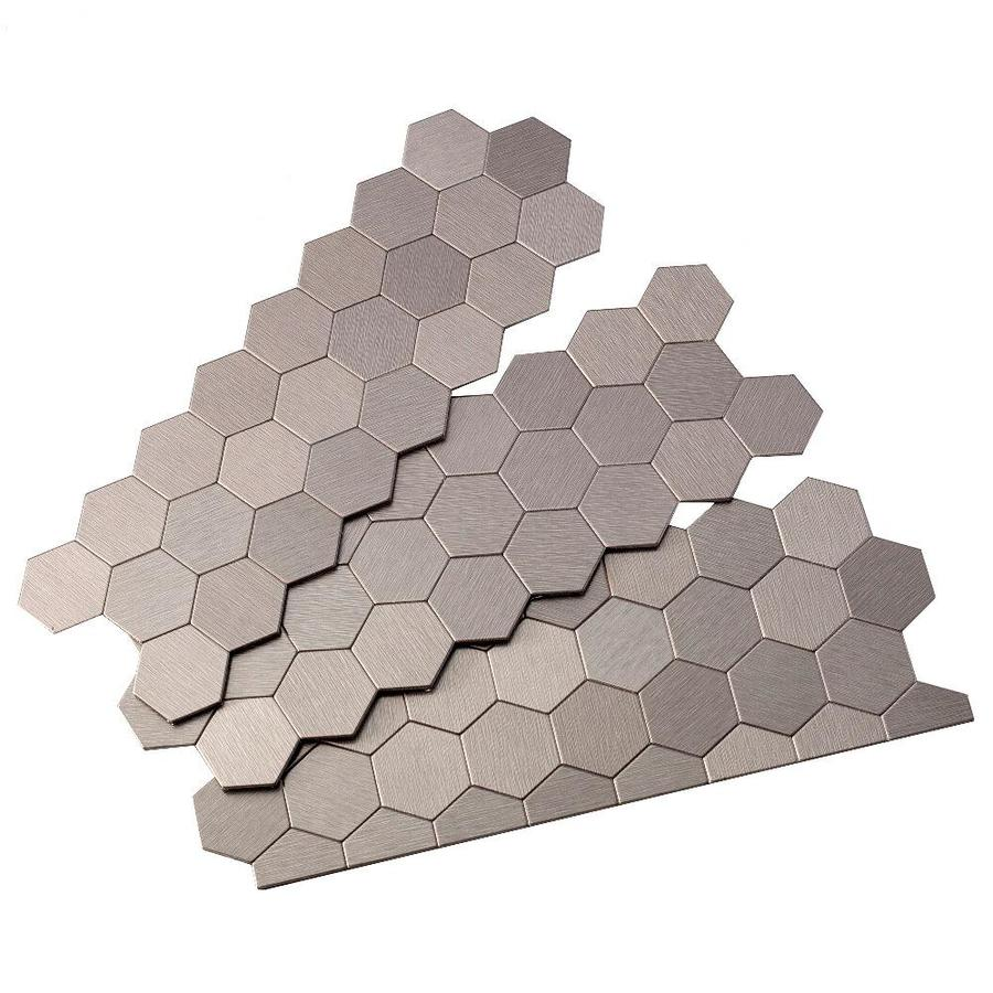 Aspect Metal 4-in x 12-in Stainless Metal Multipurpose Backsplash