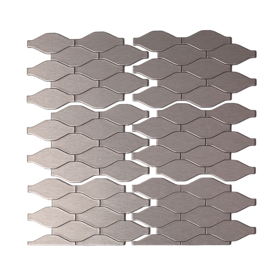 Shop aspect metal 4 in x 6 in stainless metal multipurpose for Kitchen cabinets lowes with decorative metal disc wall art