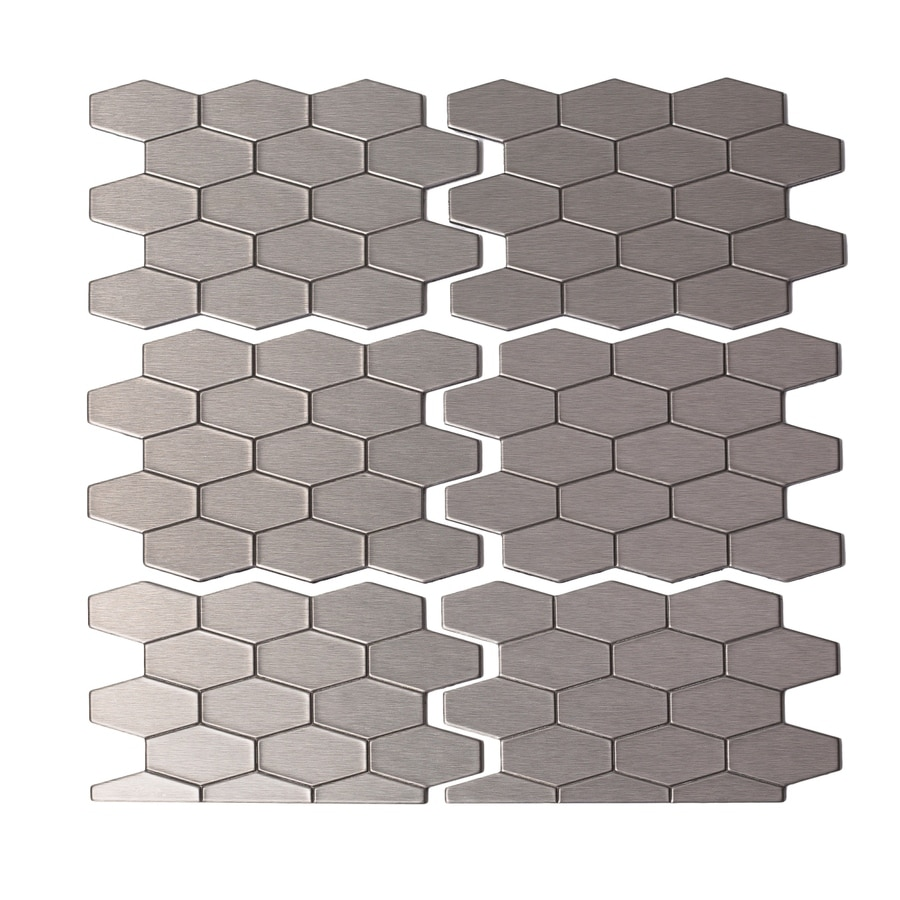 Aspect Metal 4-in x 6-in Stainless Metal Multipurpose Backsplash