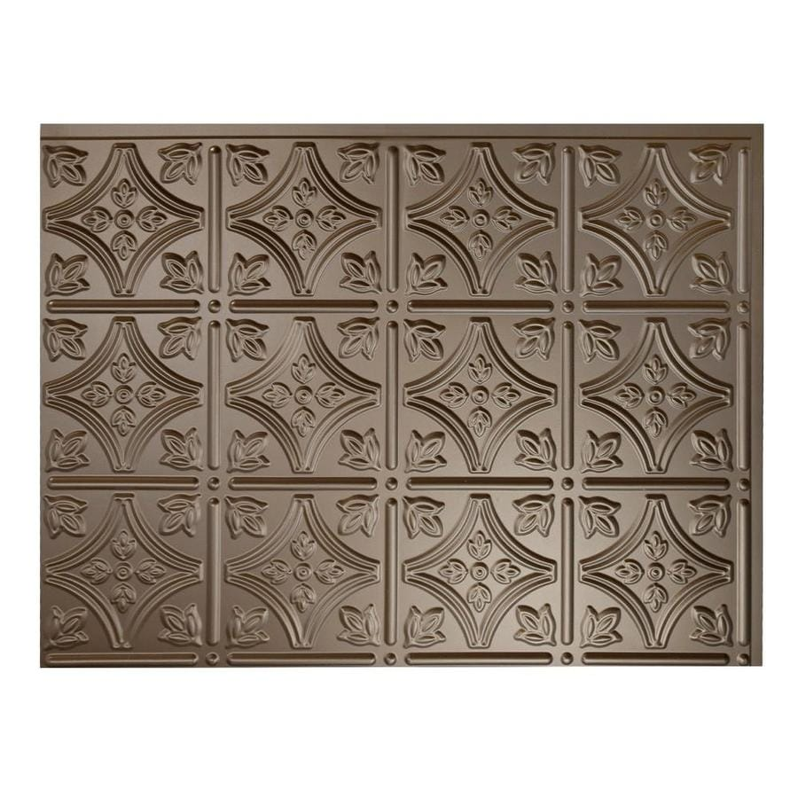 thermoplastic panels kitchen backsplash shop fasade 18 5 in x 24 5 in argent bronze thermoplastic 6095