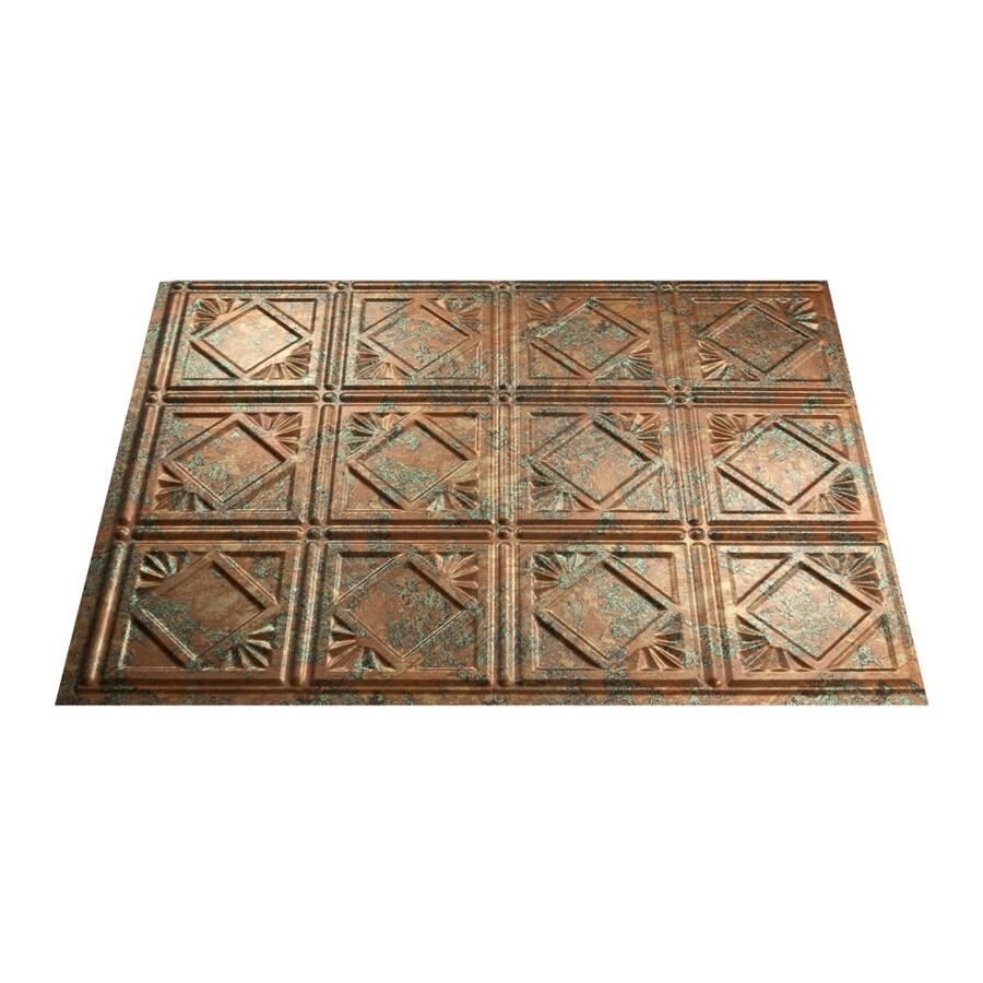 shop fasade 18 5 in x 24 5 in copper fantasy thermoplastic