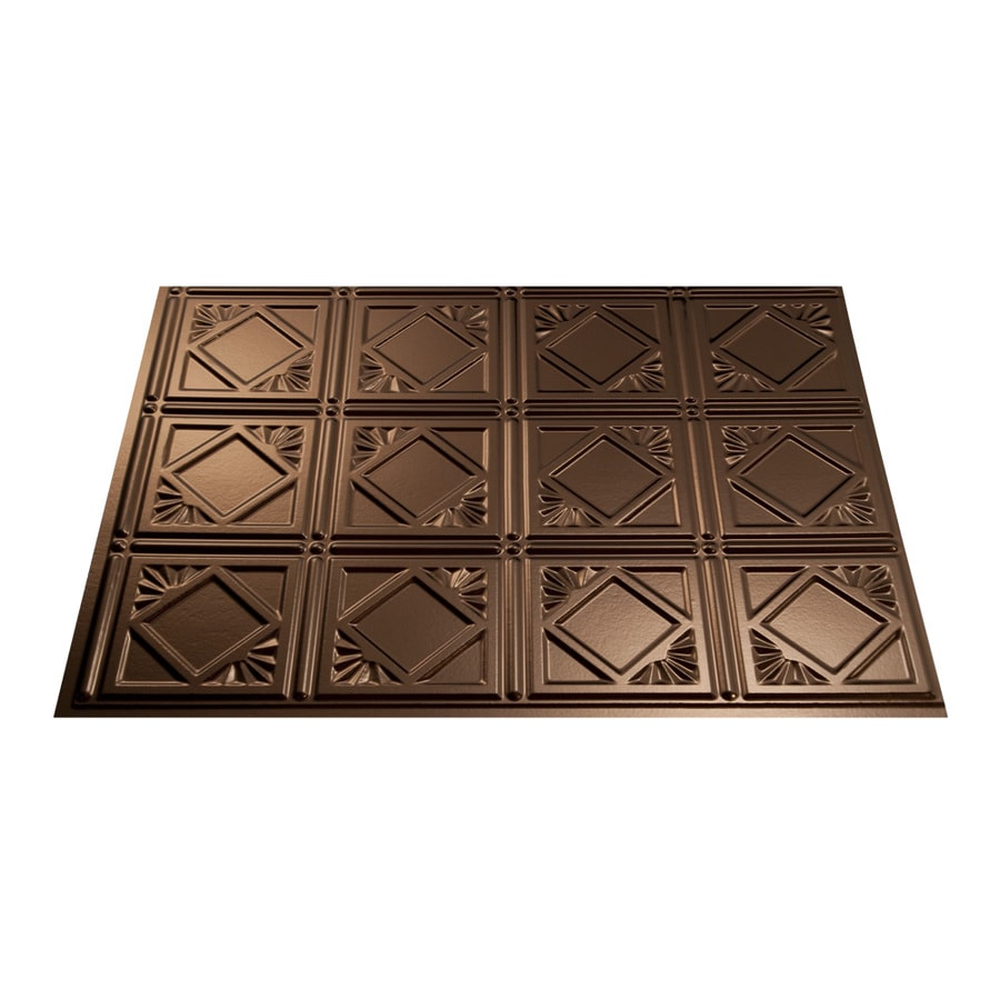 Fasade 18.5-in x 24.5-in Oil-Rubbed Bronze Thermoplastic Multipurpose Backsplash