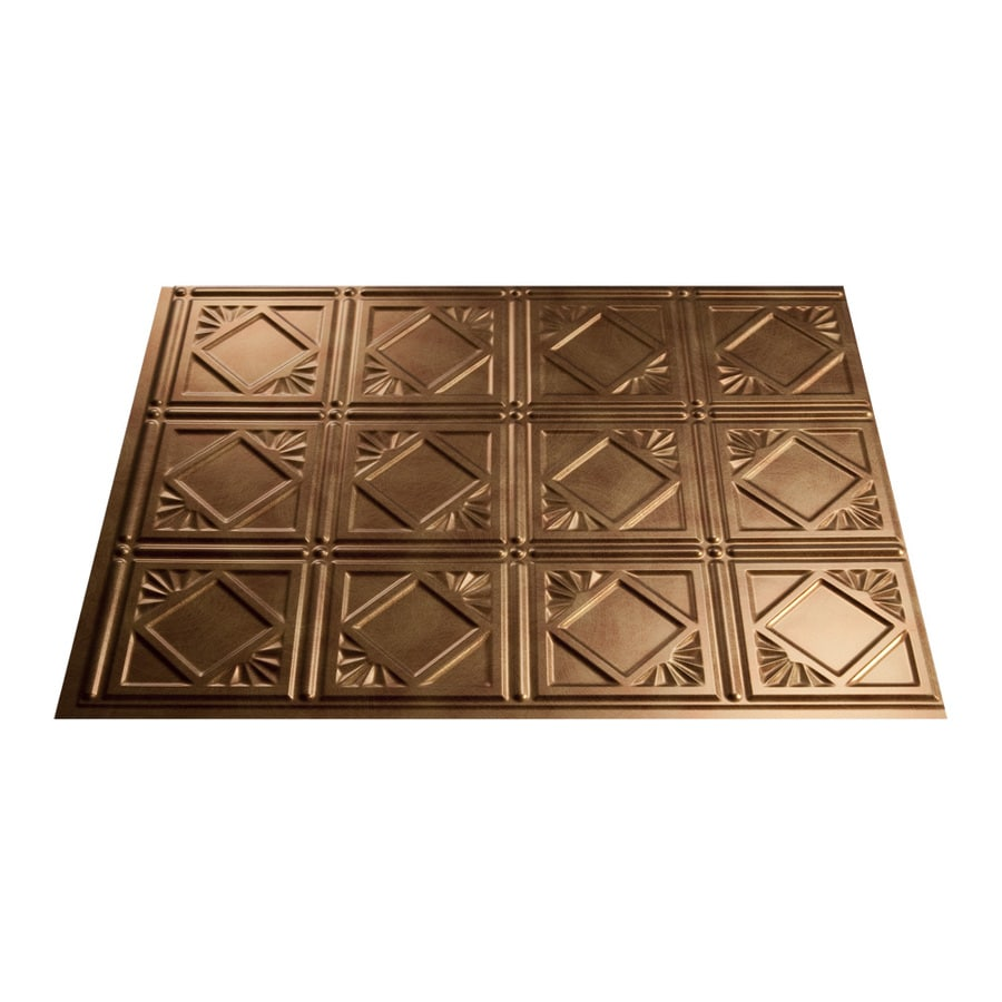 Fasade 18.5-in x 24.5-in Antique Bronze Thermoplastic Backsplash
