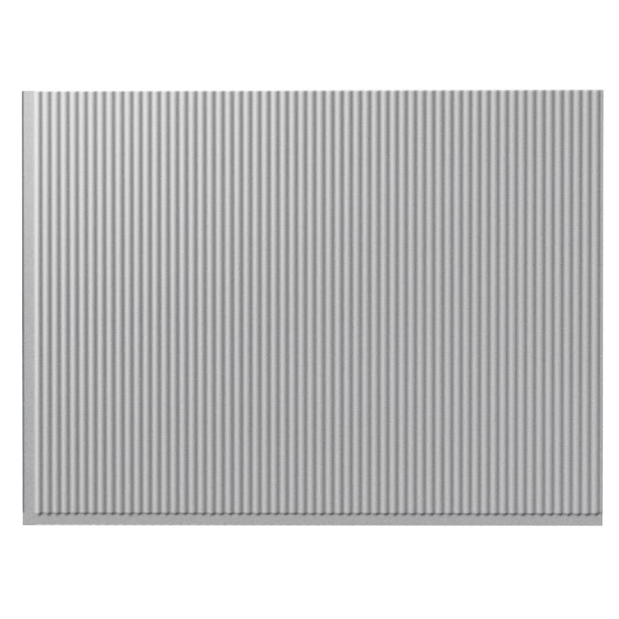 Fasade 18.5-in x 24.5-in Silver Thermoplastic Multipurpose Backsplash
