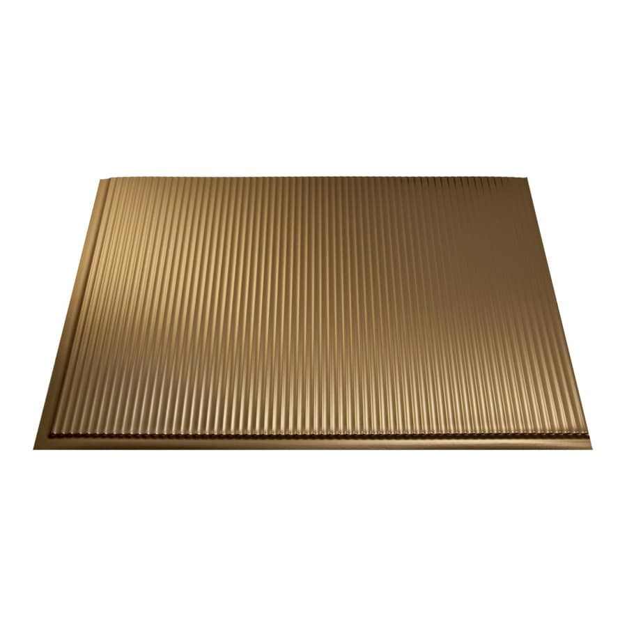 Fasade 18.5-in x 24.5-in Polished Copper Thermoplastic Multipurpose Backsplash