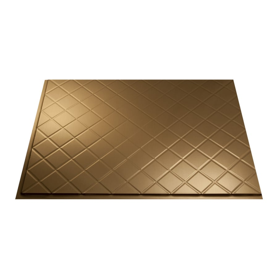 Fasade 18.5-in x 24.5-in Oil-Rubbed Bronze Thermoplastic Multipurpose Backsplash