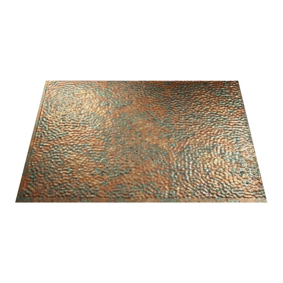 Fasade 18.5-in x 24.5-in Copper Fantasy Thermoplastic Multipurpose Backsplash