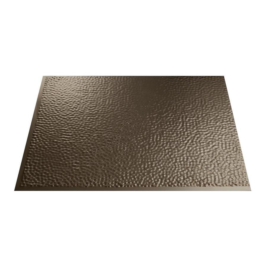 Fasade 18.5-in x 24.5-in Argent Bronze Thermoplastic Multipurpose Backsplash