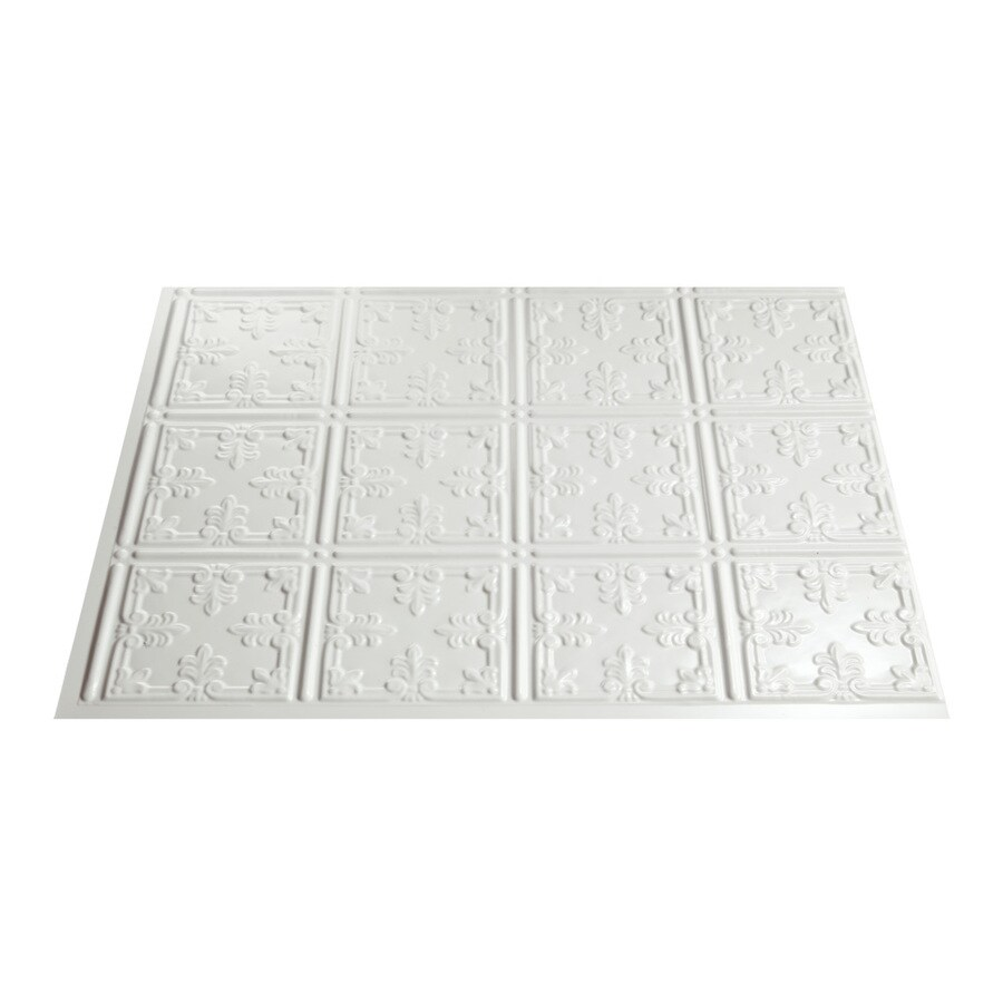 Fasade 18.5-in x 24.5-in Paintable White Thermoplastic Multipurpose Backsplash