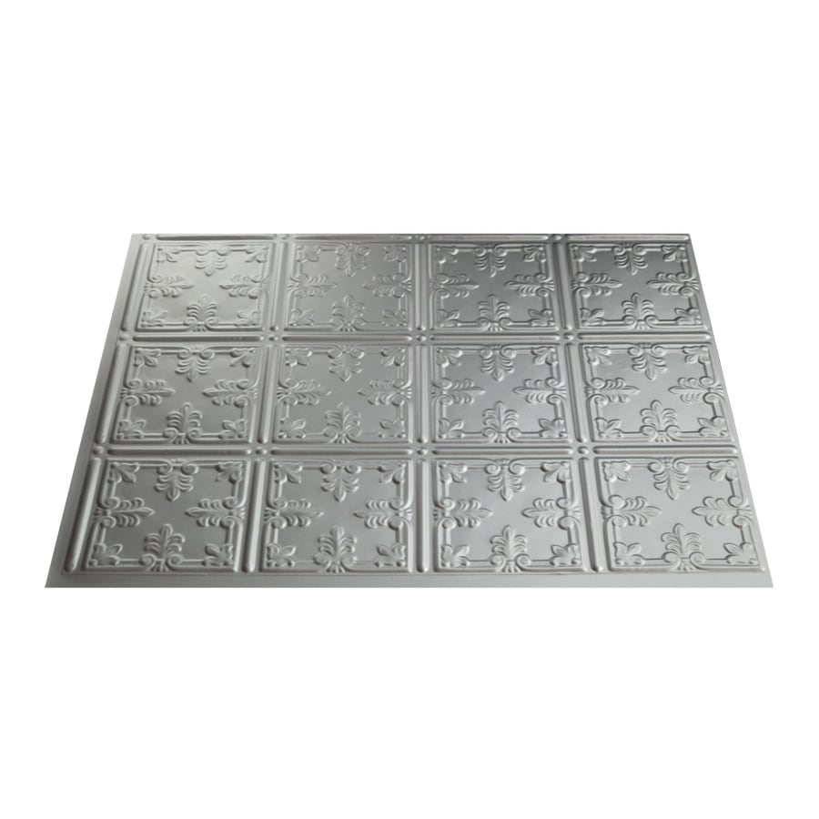 Fasade 18.5-in x 24.5-in Argent Silver Thermoplastic Multipurpose Backsplash