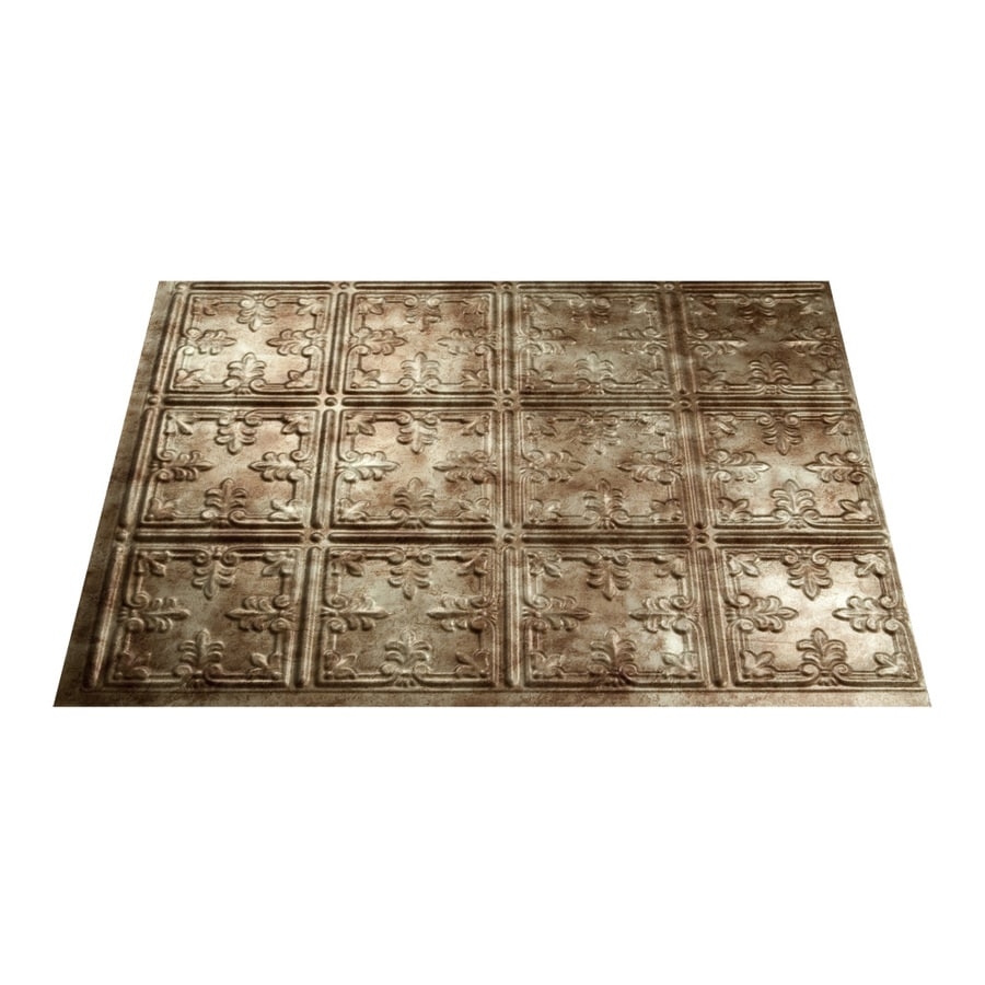 Kitchen Backsplash Tile At Lowes: Shop Fasade 18.5-in X 24.5-in Bermuda Bronze Thermoplastic