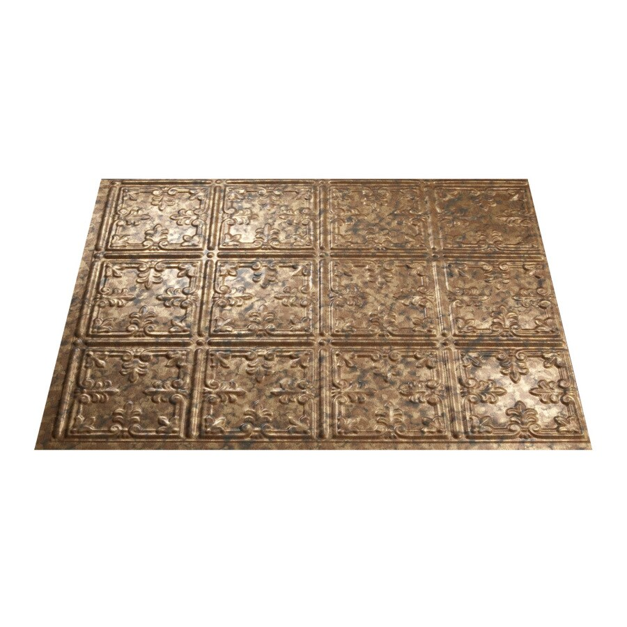 - Fasade Traditional 10 18.5-in X 24.5-in Cracked Copper Backsplash