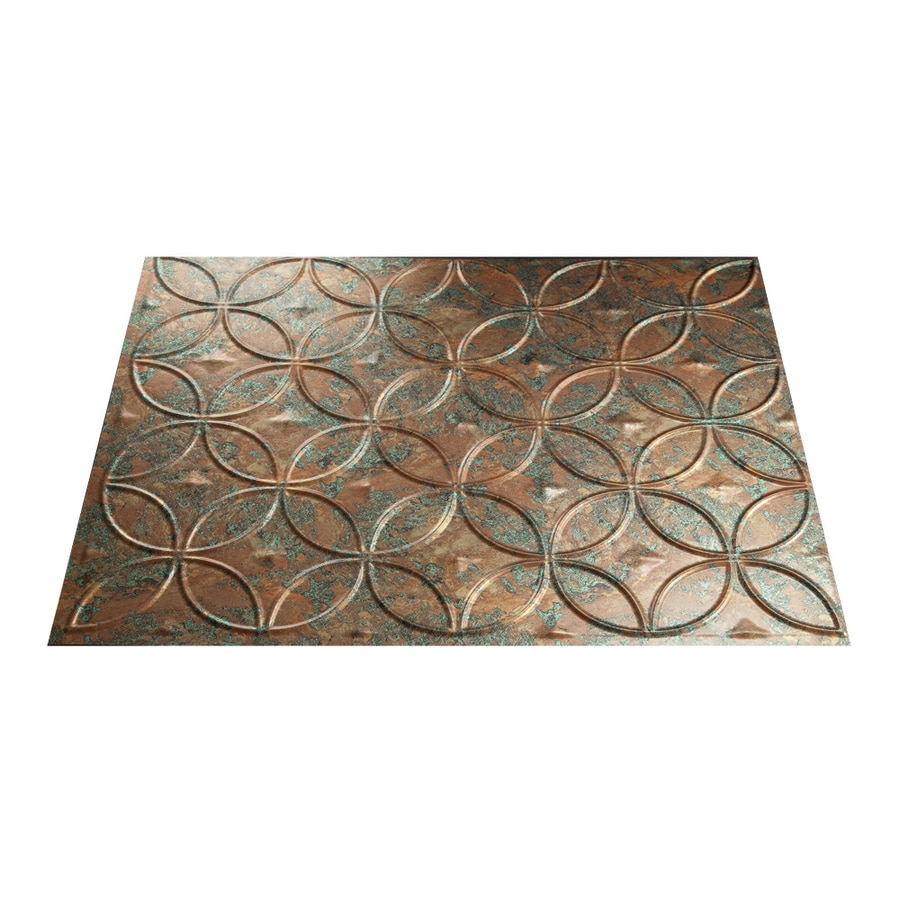 Fasade 18.5-in x 24.5-in Copper Fantasy Thermoplastic Multipurpose Backsplash