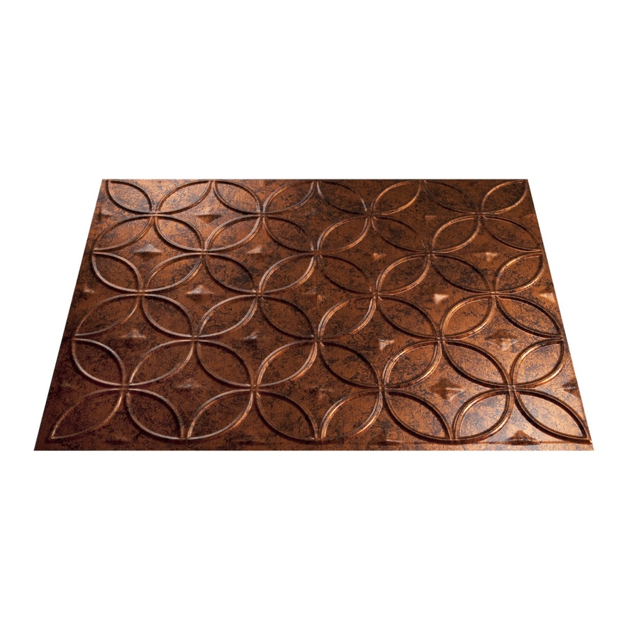 Fasade 18.5-in x 24.5-in Moonstone Copper Thermoplastic Multipurpose Backsplash