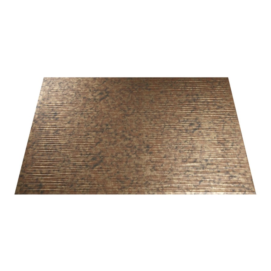 18 5 in x 24 5 in cracked copper thermoplastic multipurpose backsplash