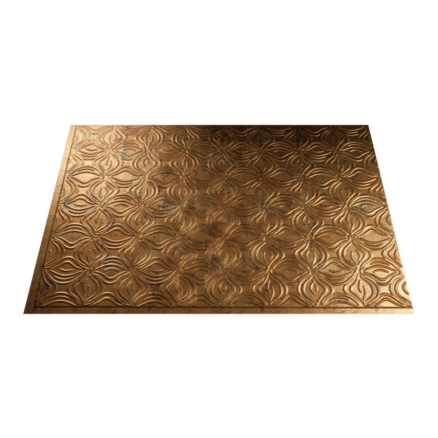 Fasade 18.5-in x 24.5-in Muted Gold Thermoplastic Multipurpose Backsplash